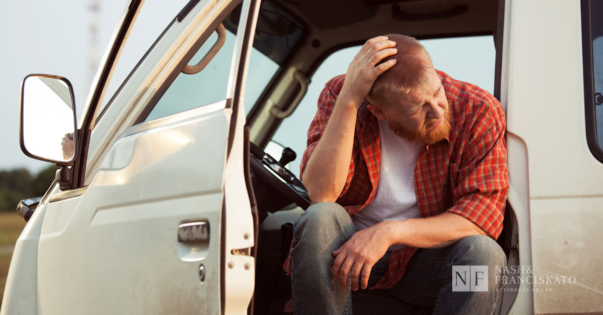 Tired truck driver