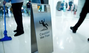 Wet floor sign_