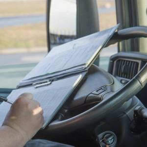 Truck driver logbook