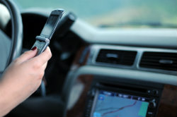 car accidents texting