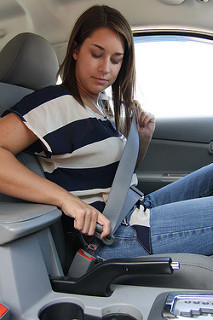 Teen driver buckling up