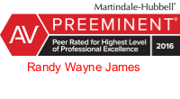 Randy Wayne James badge