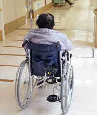 Nursing Home Resident in wheelchair