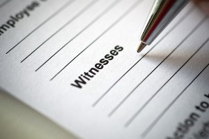 Credible Witness, Witnesses,  car accident, provide a statement,